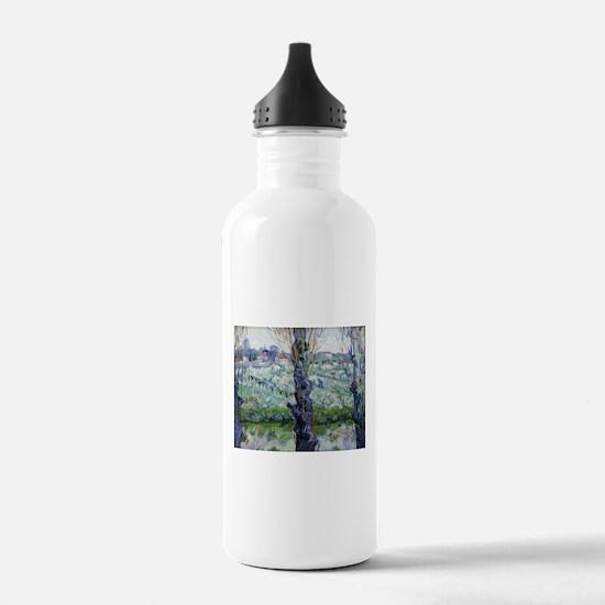 Van Gogh Flowering Orchards Water Bottle