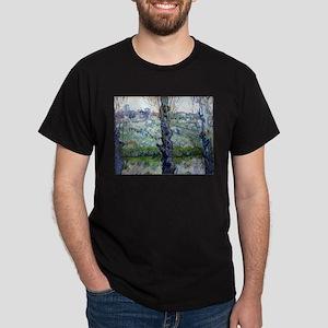 Van Gogh Flowering Orchards Dark T-Shirt
