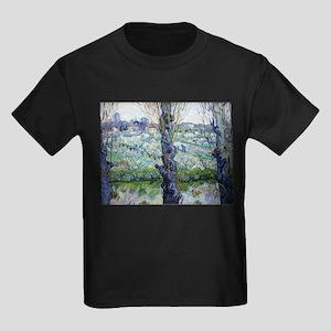 Van Gogh Flowering Orchards Kids Dark T-Shirt