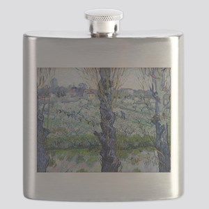 Van Gogh Flowering Orchards Flask