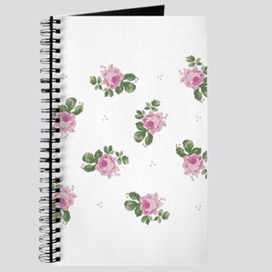 Pink Roses Floral Pattern Journal