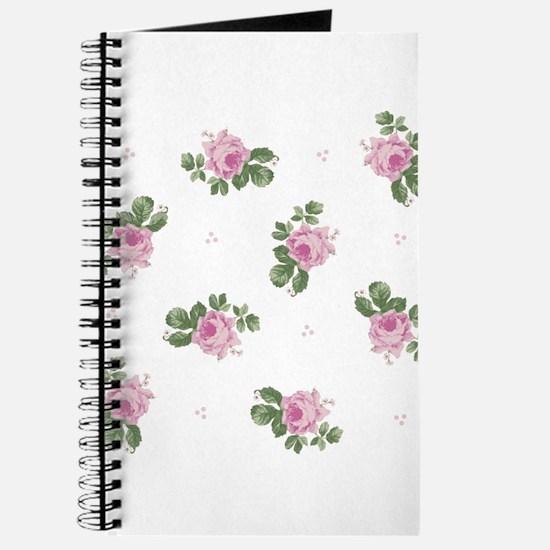 Pink Roses Floral Pattern Journal