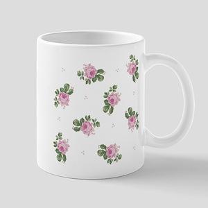 Pink Roses Floral Pattern Mug