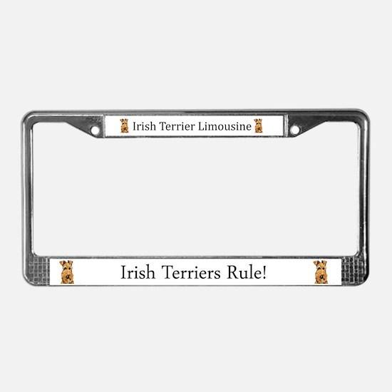 Irish Terrier Limousine License Plate Frame