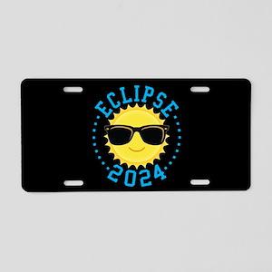 Cute Sun Eclipse 2017 Aluminum License Plate