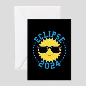Cute Sun Eclipse 2017 Greeting Cards