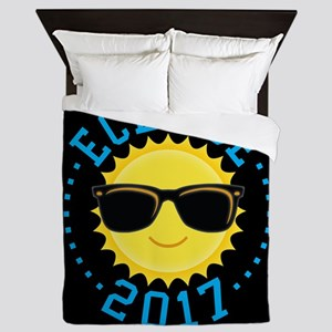 Cute Sun Eclipse 2017 Queen Duvet