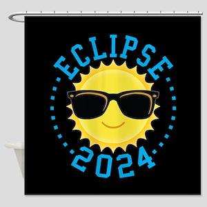 Cute Sun Eclipse 2017 Shower Curtain