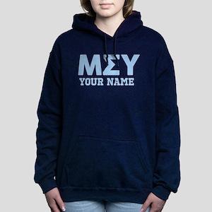 Mu Sigma Upsilon Letters Women's Hooded Sweatshirt