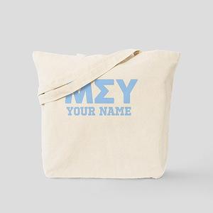 Mu Sigma Upsilon Letters Personalized Tote Bag