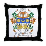 MacFingah Coat of Arms Throw Pillow