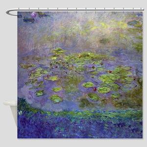 Monet - Nympheas 1914-17 Shower Curtain
