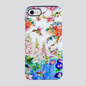 Hummingbirds and Flowers Lands iPhone 7 Tough Case