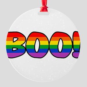 boo-rainbow Round Ornament
