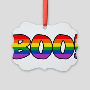 boo-rainbow Picture Ornament