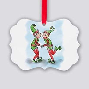 elf-kiss-tee Picture Ornament