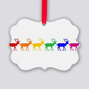 reindeer-rainbow_tr Picture Ornament