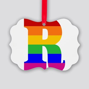 rainbow-letter-r Picture Ornament