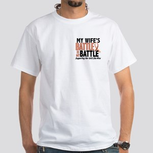 My Battle Too Uterine Cancer White T-Shirt