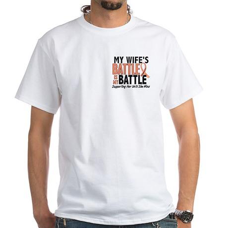 My Battle Too Uterine Cancer White T-Shirt
