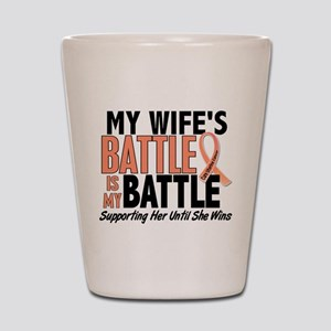 My Battle Too Uterine Cancer Shot Glass