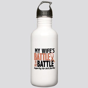 My Battle Too Uterine Cancer Stainless Water Bottl