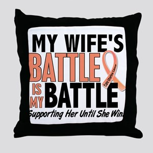 My Battle Too Uterine Cancer Throw Pillow