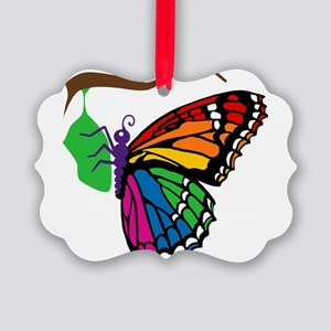 butterfly-emerging_tr Picture Ornament