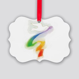 gay_wedding_dove_t Picture Ornament