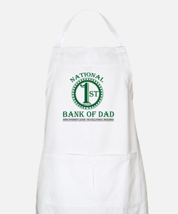 1st National Bank of Dad BBQ Apron
