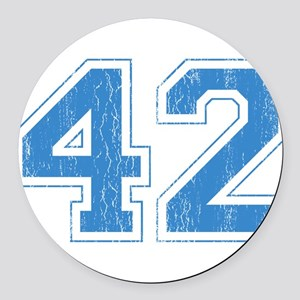 42 Round Car Magnet