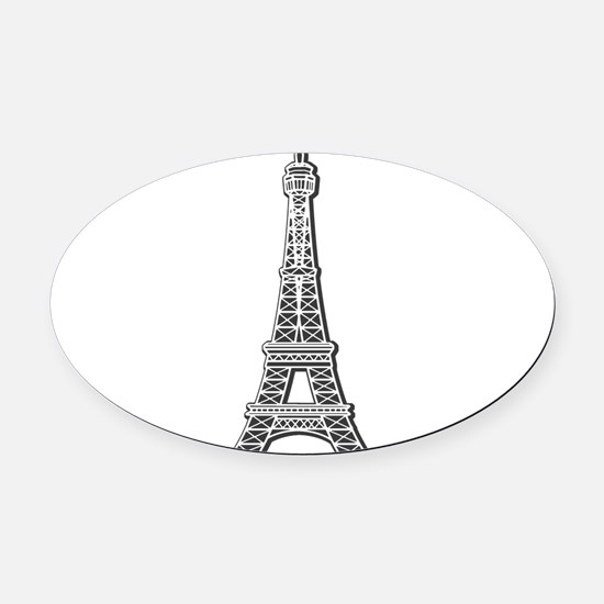 EIFFEL-TOWER.png Oval Car Magnet