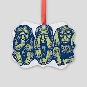 3monkeys Picture Ornament