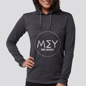 Mu Sigma Upsilon Letters in Ci Womens Hooded Shirt