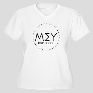 Mu Sigma Upsilon Women's Plus Size V-Neck T-Shirt