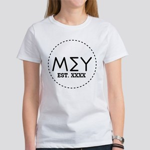 Mu Sigma Upsilon Let Women's Classic White T-Shirt