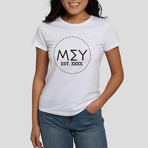 Mu Sigma Upsilon Let Women's Classic White T-Shirt