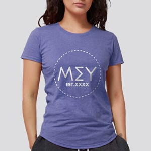 Mu Sigma Upsilon Letters Womens Tri-blend T-Shirt