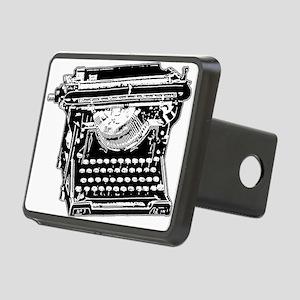 typewriter_bk Rectangular Hitch Cover