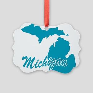 3-michigan Picture Ornament