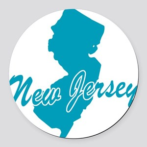3-new-jersey Round Car Magnet