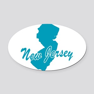 3-new-jersey Oval Car Magnet