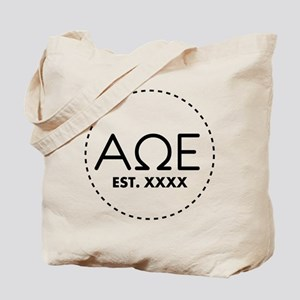 Alpha Omega Epsilon Circle Personalized Tote Bag