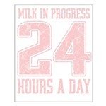 Milk In Progress Small Poster