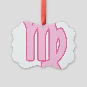 pink-zodiac-virgo Picture Ornament