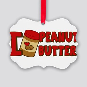 i-love-peanut-butter_tr Picture Ornament