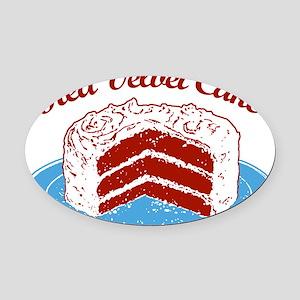 red-velvet-cake2 Oval Car Magnet