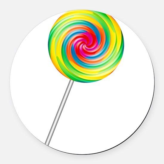 lollipop.png Round Car Magnet