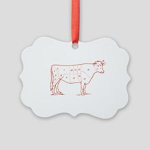 beef-cuts-retro Picture Ornament