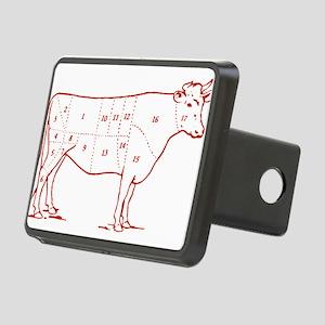 beef-cuts-retro Rectangular Hitch Cover